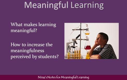 Meaningful learning